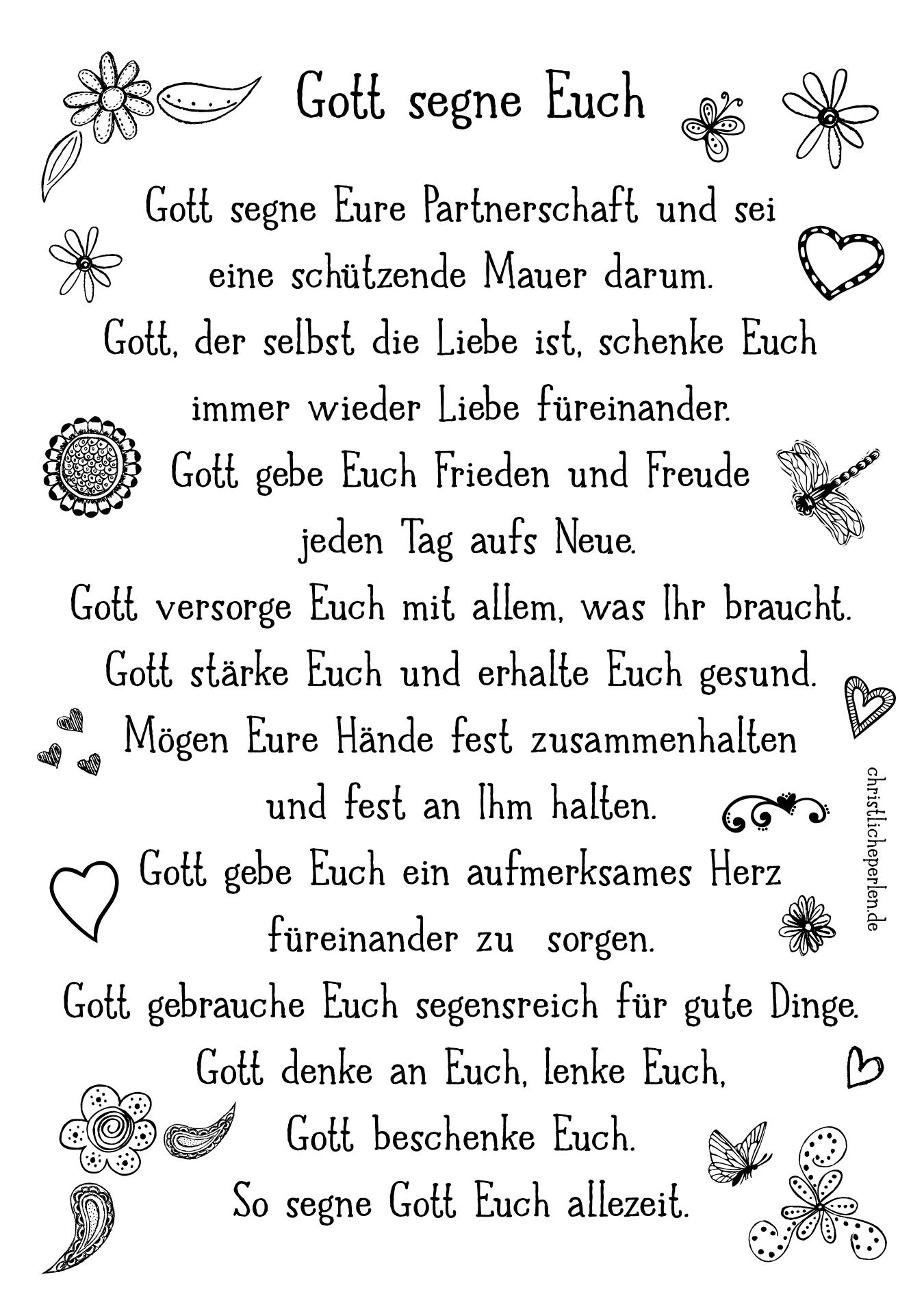 Gott Segne Euch Hochzeitswunsche Spruche Spruche Hochzeit Hochzeit Gluckwunsch Spruch