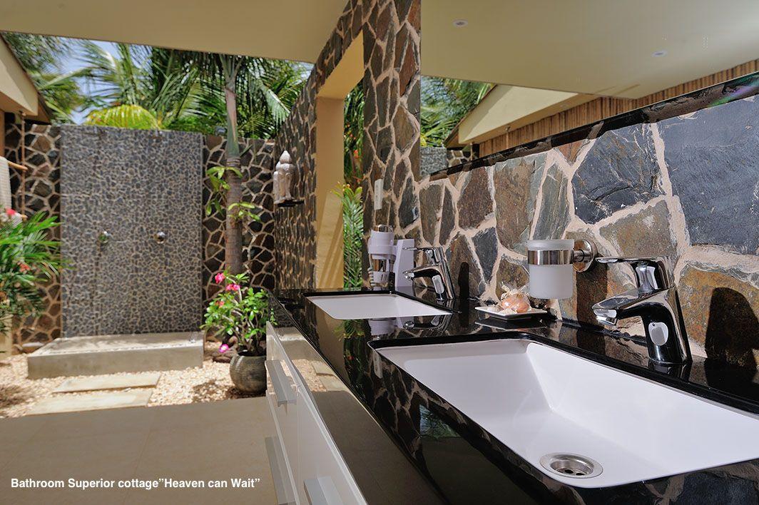 "Bathroom ""Heaven can Wait"" Bamboo Bali Bonaire Bali"