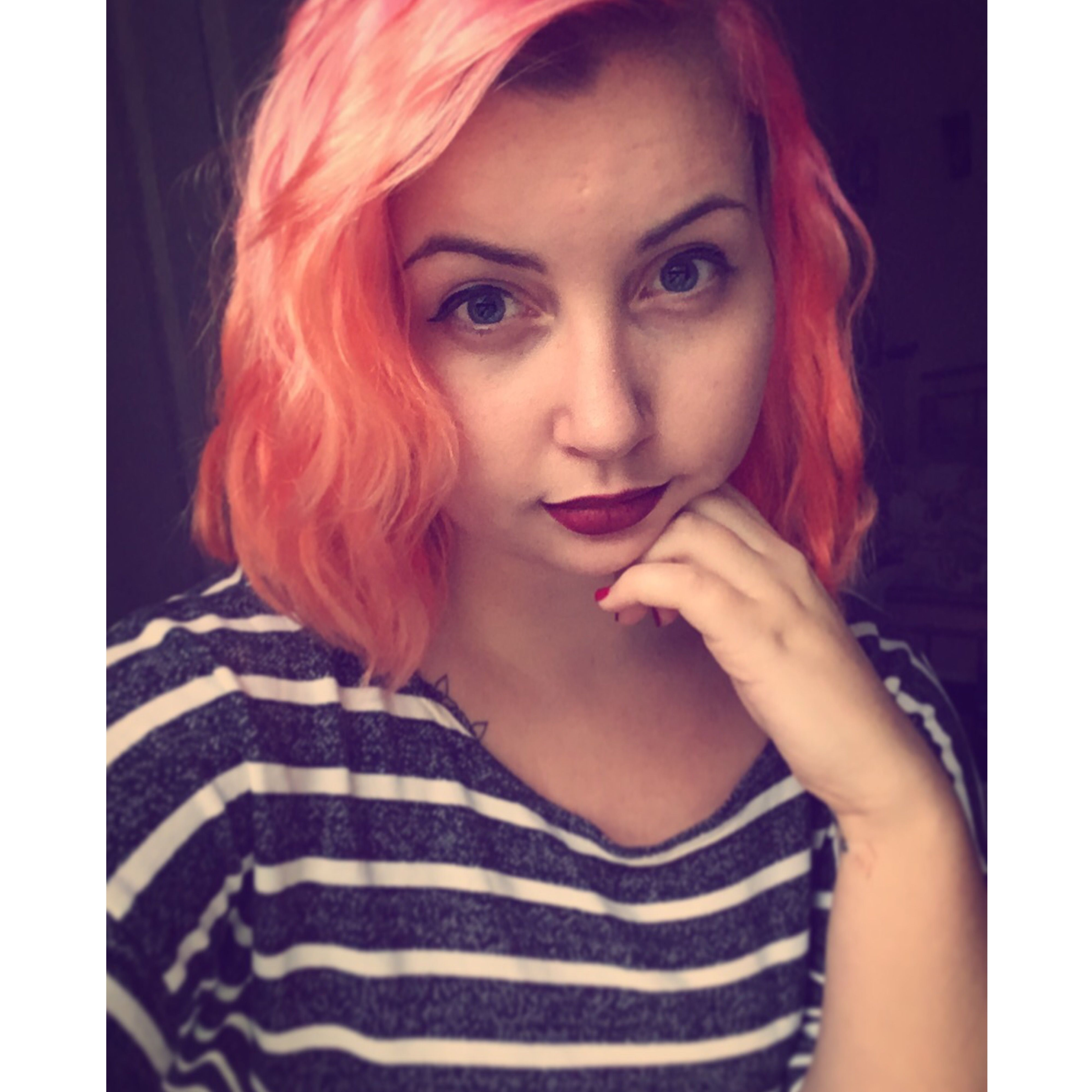 Peach Manic Panic Psychedelic Sunset And Cotton Candy Pink Pink