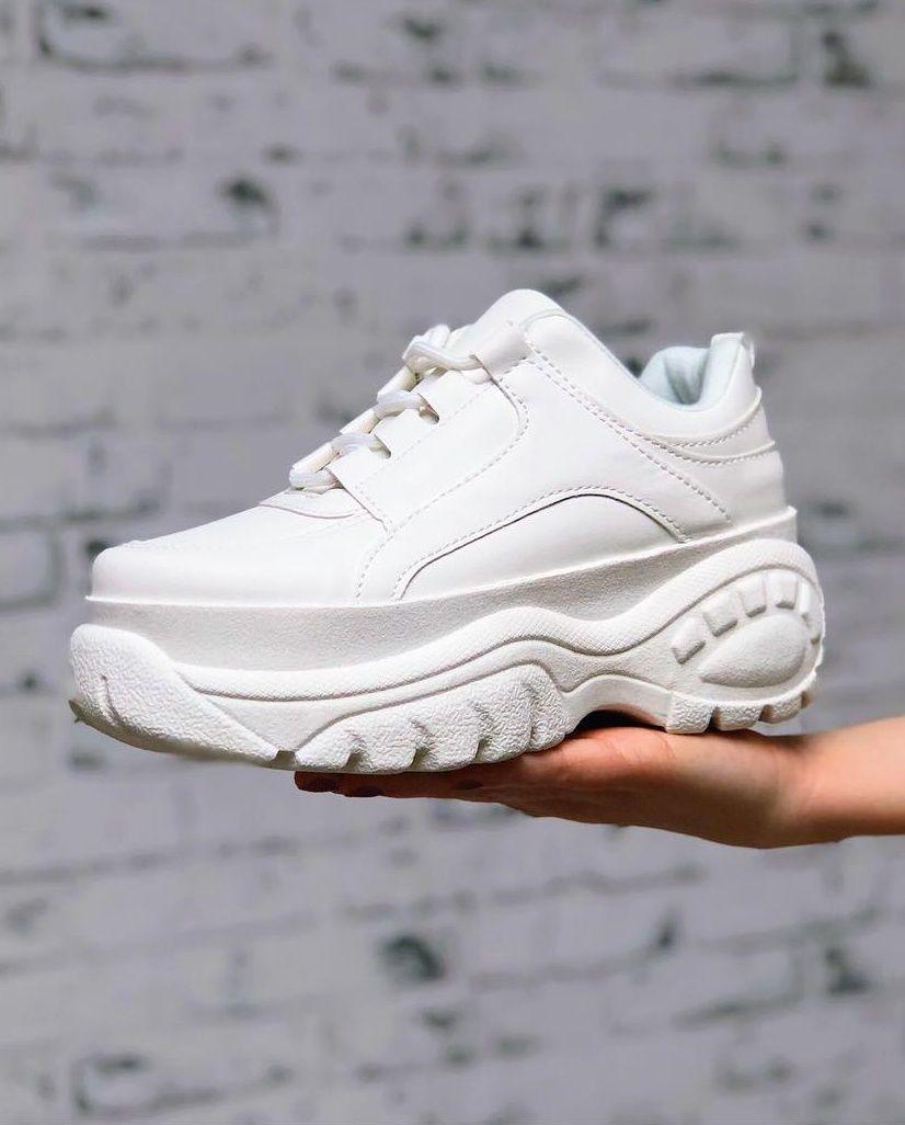 627551d9161 Sneakers blancas con plataforma maxi  zapatillas  blancas  bosanova ...