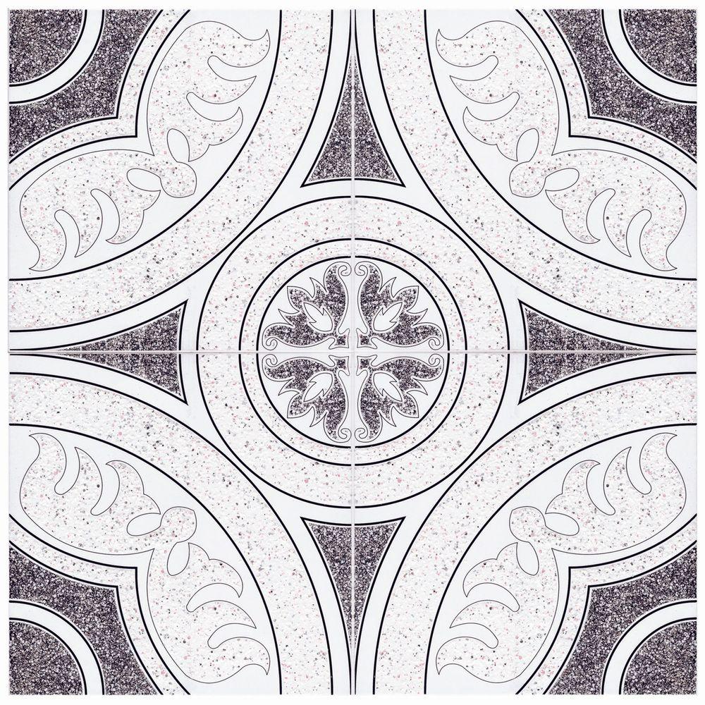 Somertile 12 5x12 5 Inch Sonaba Nero Ceramic Floor And