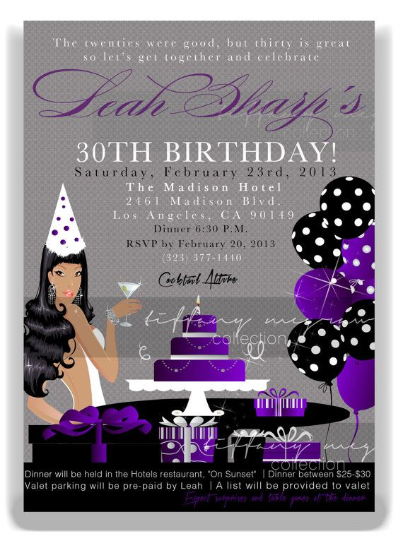 leah chic 30th birthday party invitation my 30th bday pinterest