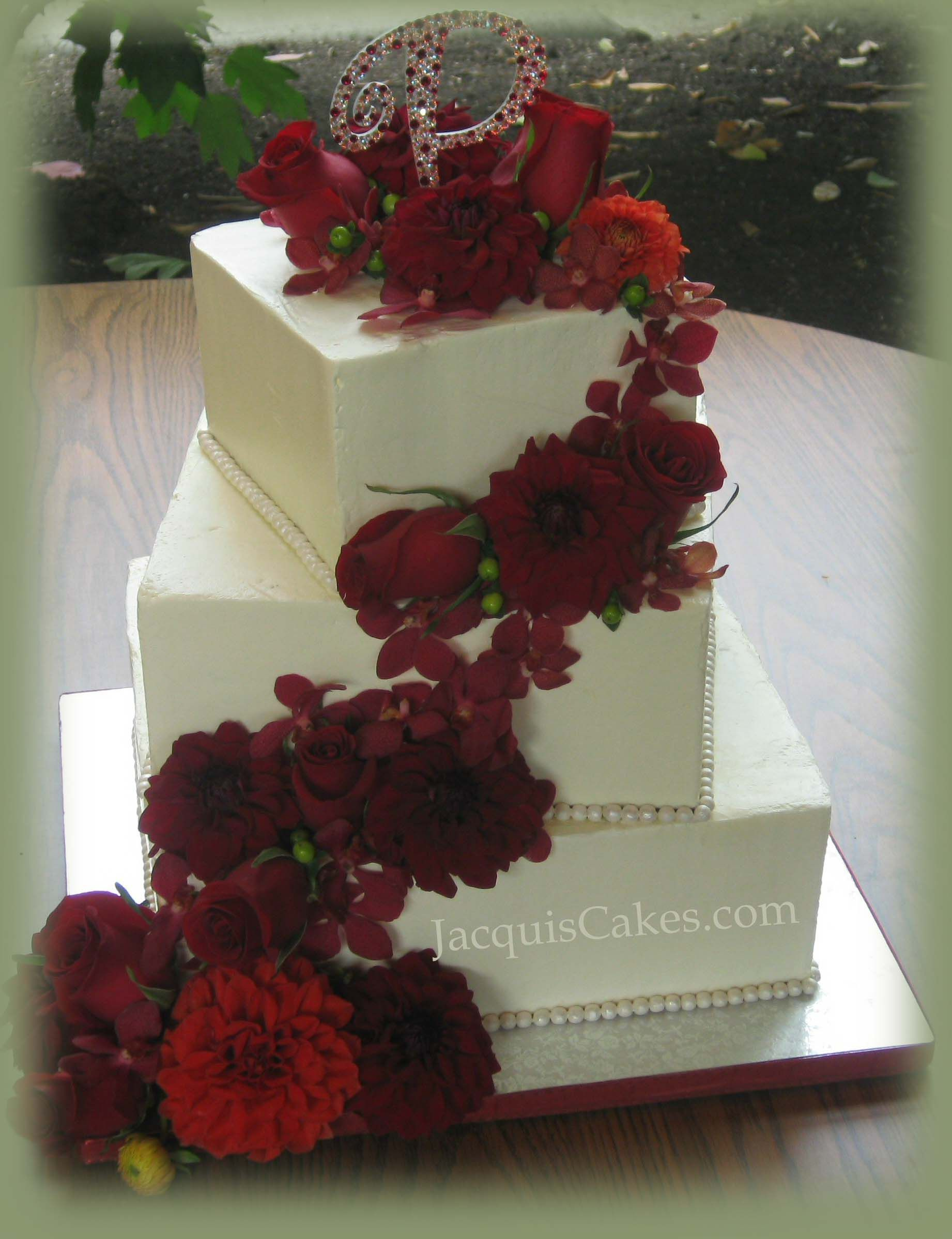 square wedding cake with flowers square rustic wedding cakes floral square 20436