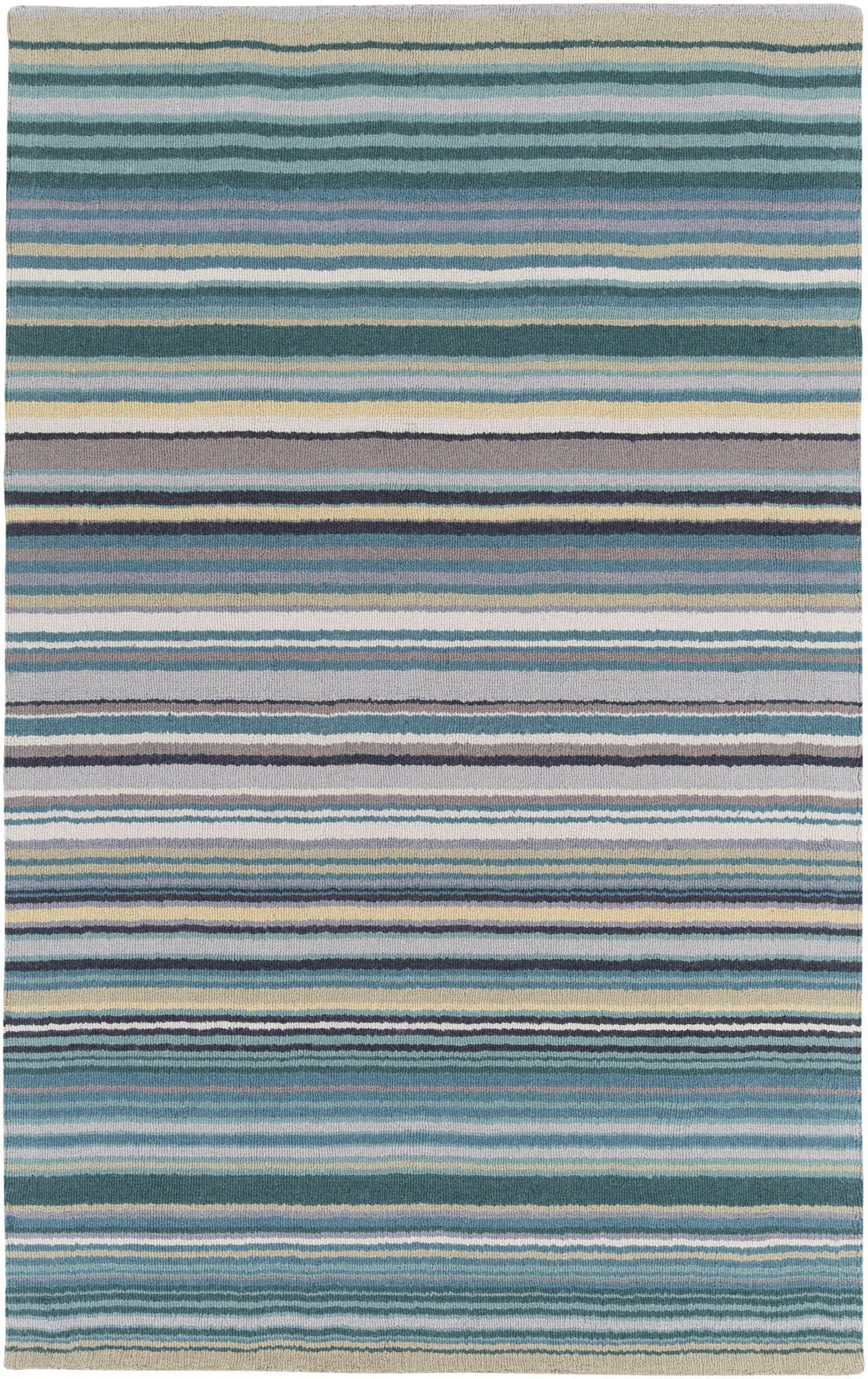 Surya Blowout Sale Up To 70 Off M5419 23 Mystique Stripes Area Rug Blue Green Only Only 77 40 Blue Area Rugs Wool Area Rugs Area Rugs