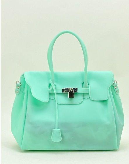 805ca0234d56 Mindy Jelly Handbag in Mint