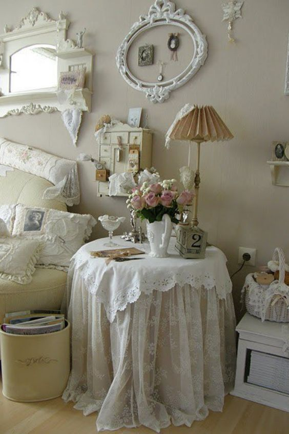 So Lacy And Romantic Shabby Chic Zimmer Shabby Chic
