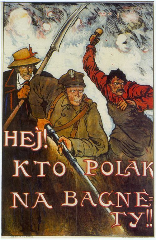 Andegawenskas Hey Whoever Is A Pole To Your Bayonnets Polish Propaganda Poster From The Polish Soviet W Propaganda Posters Propaganda Polish Posters
