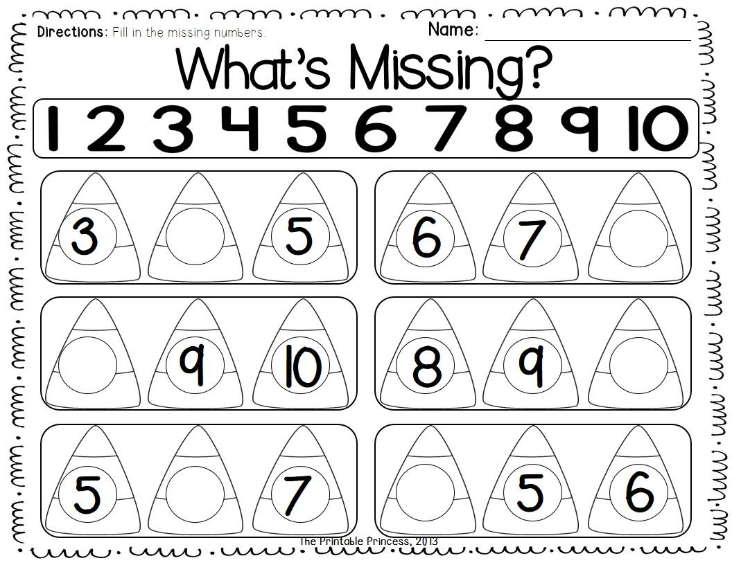 Fall Math Worksheet Kindegarten