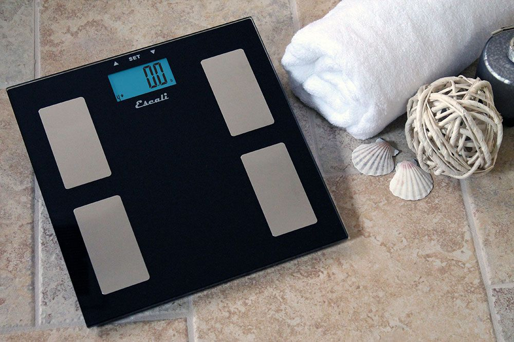 The Glass Health Monitor scale is a black tempered glass platform with attractive stainless steel censors adding a modern and sleek look to your bathroom. This scale doesn't just provide the user with weight information but body fat, body water and muscle mass data as well. This is a must have for those tracking their weight loss.