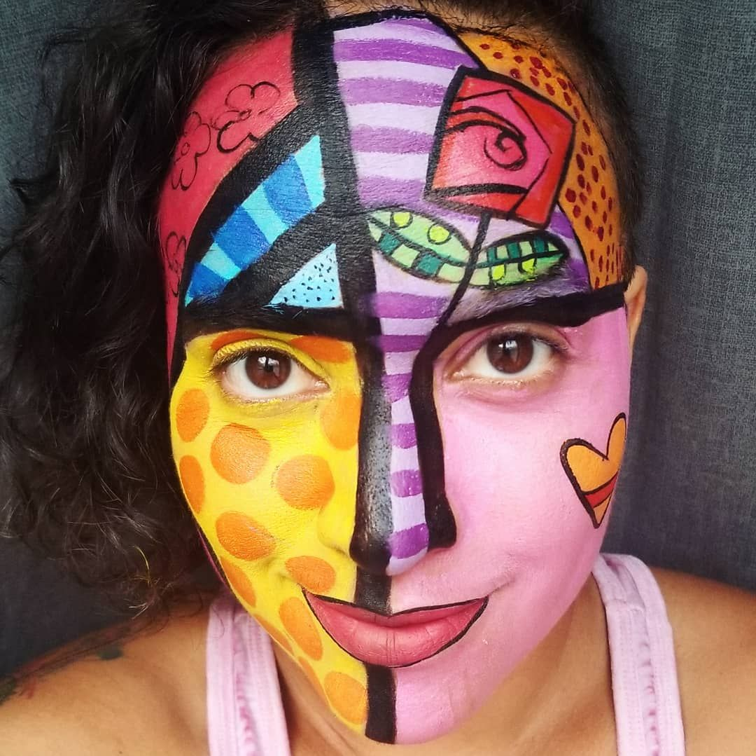 Britto Inspired face paint . . . . brooklynartist