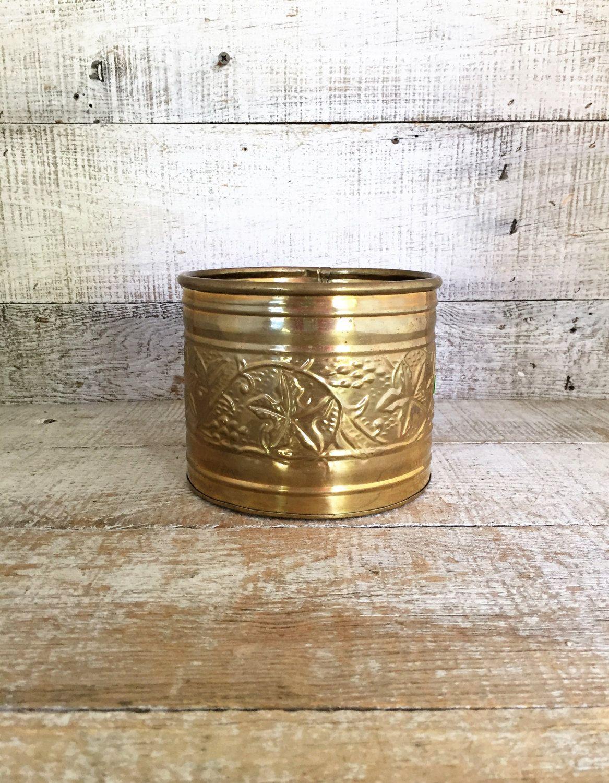 Brass Planter Small Indoor Metal
