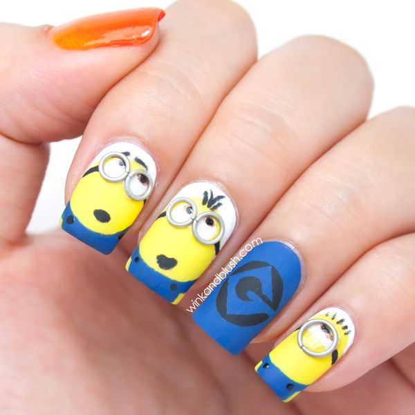 Despicable Me Minions Nail Art Tutorial - Despicable Me Minions Nail Art Tutorial Nails Pinterest