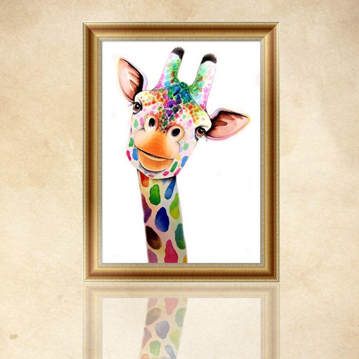 Cartoon Giraffe 5D-Diamond DIY Embroidery Painting Cross Stitch Craft Home-Decor