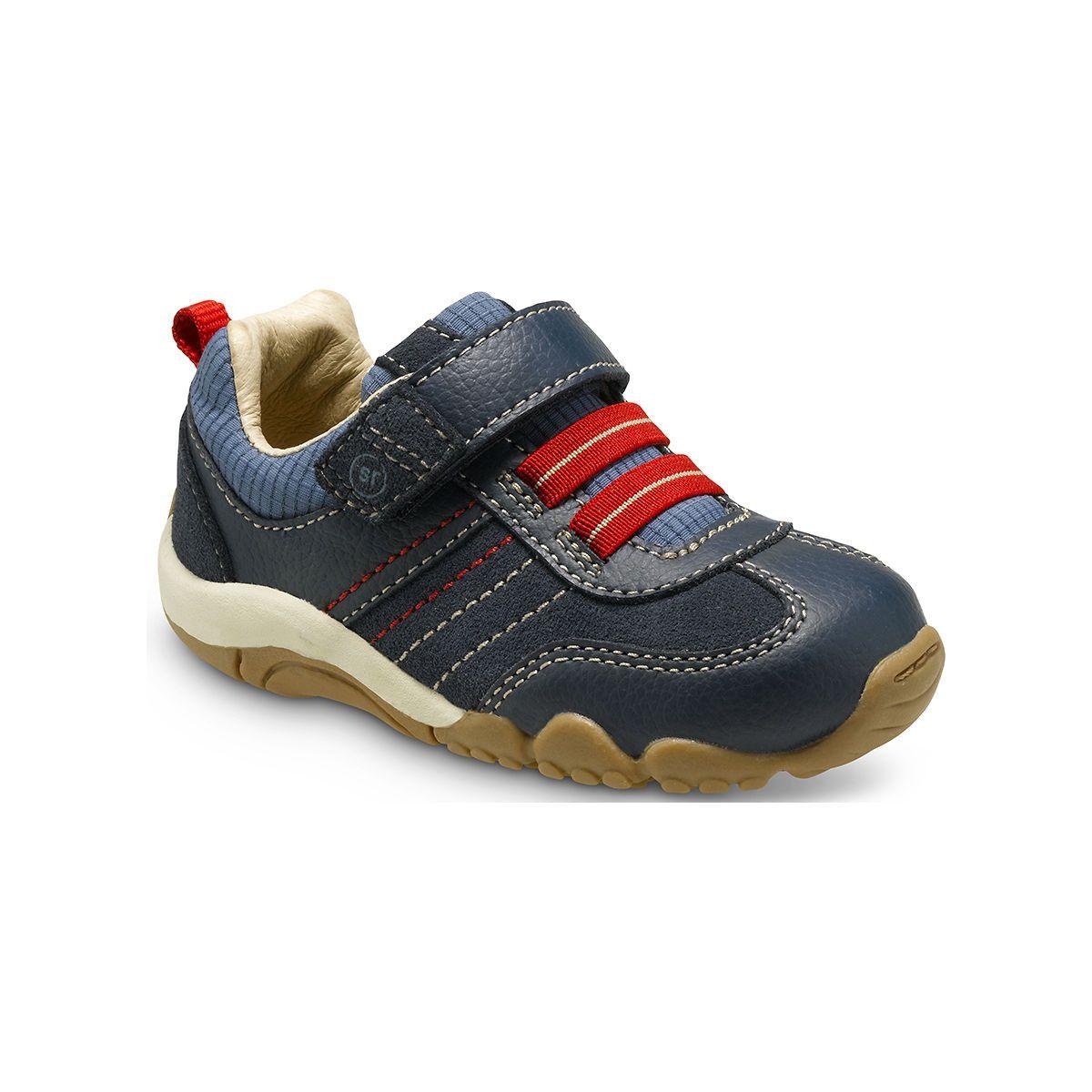 Stride Rite SRT Prescott Sneaker in Blue -  - Little Feet Childrens Shoes. #Striderite #prescott #sneaker #blue #red #cuteboyshoes #stafffavorite