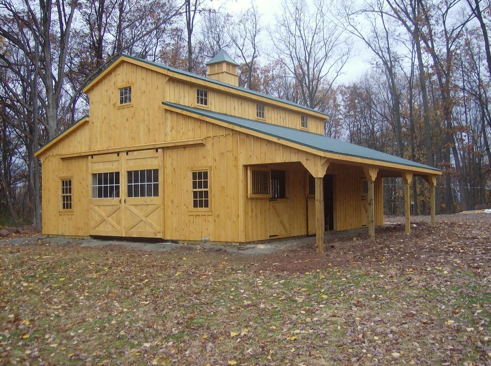 36 39 x36 39 monitor barn with lean to garage pinterest for Lean to barn