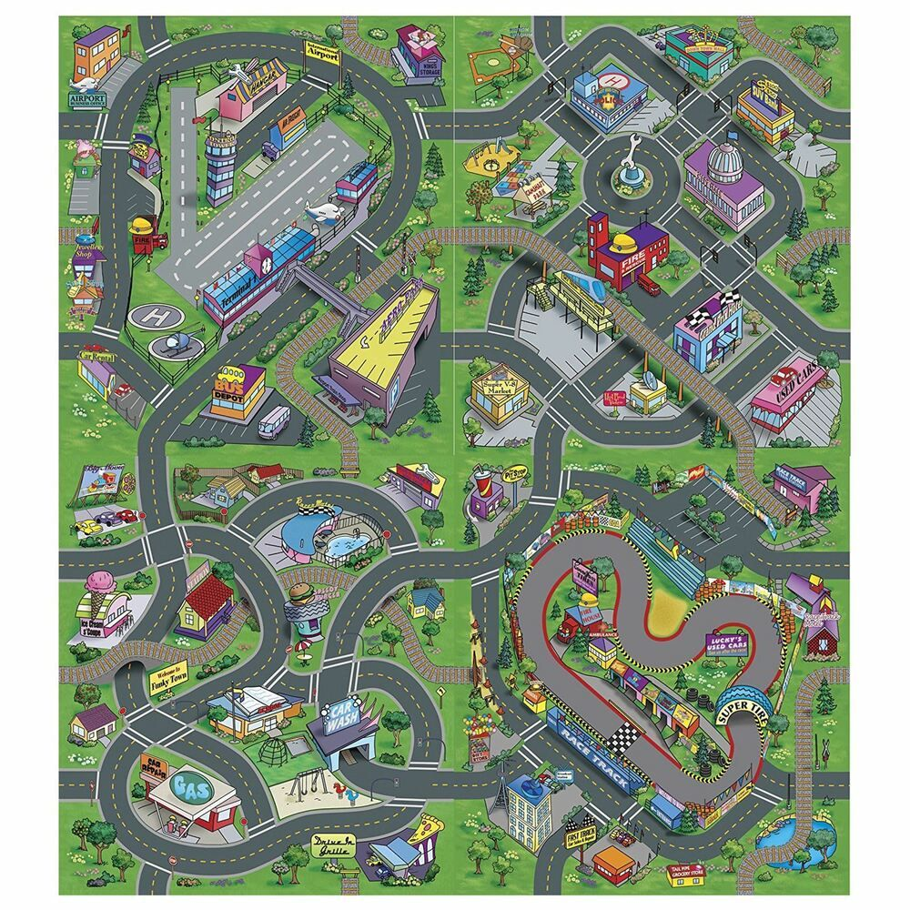 tapis route tapis de jeu tapis de jeux