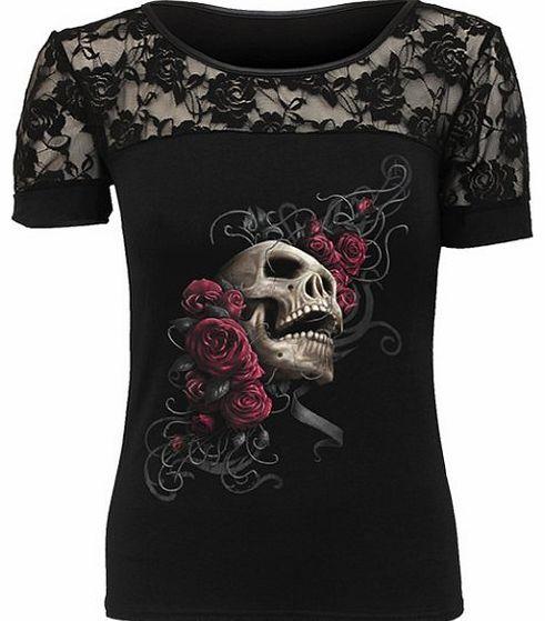 Restyle Tank Top Skelett Weiß Gothic Lolita Skeleton Bones Steampunk Punk RT9