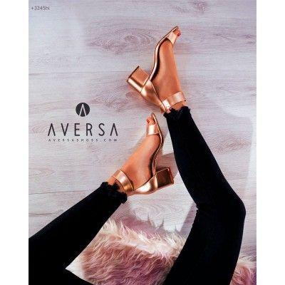 Sandalo con tacco Steve Madden Indigo oro rosa