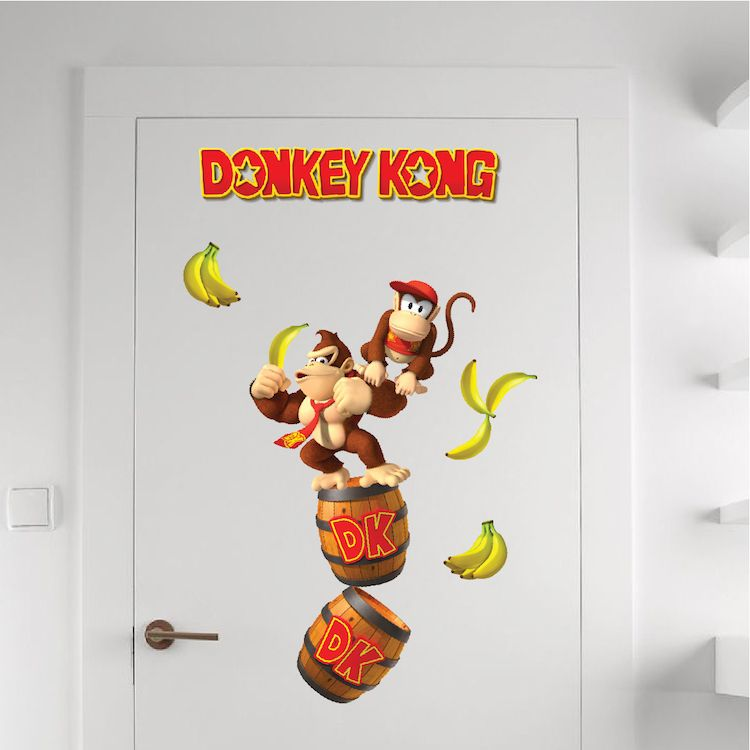 Elegant Donkey Kong Wall Decal   Arcade Stickers   Primedecals