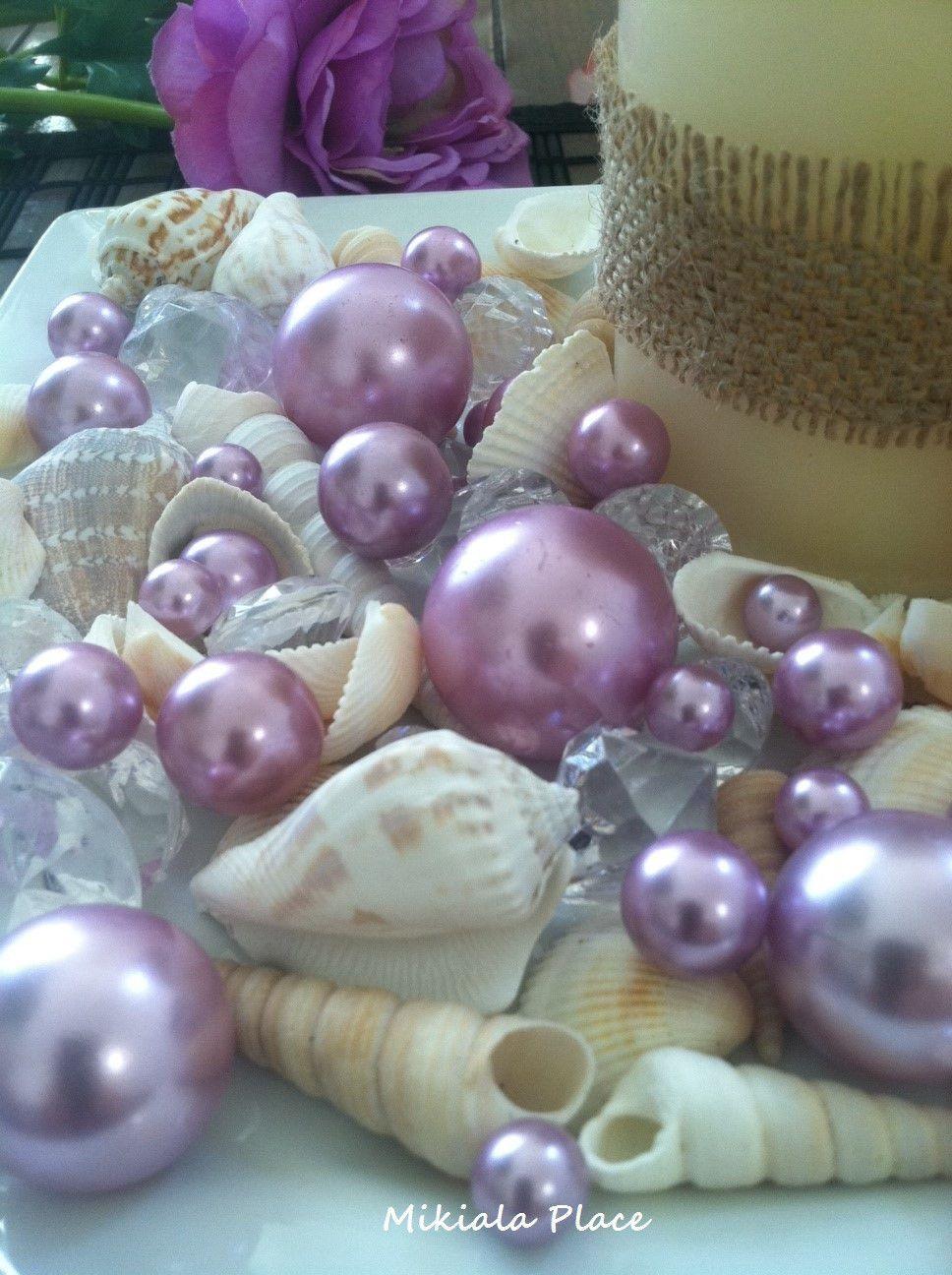 Mix seashells diamonds pearl vase bowl fillers table mix seashells diamonds pearl vase bowl fillers table scatters coastal decor wedding beach theme decors reviewsmspy
