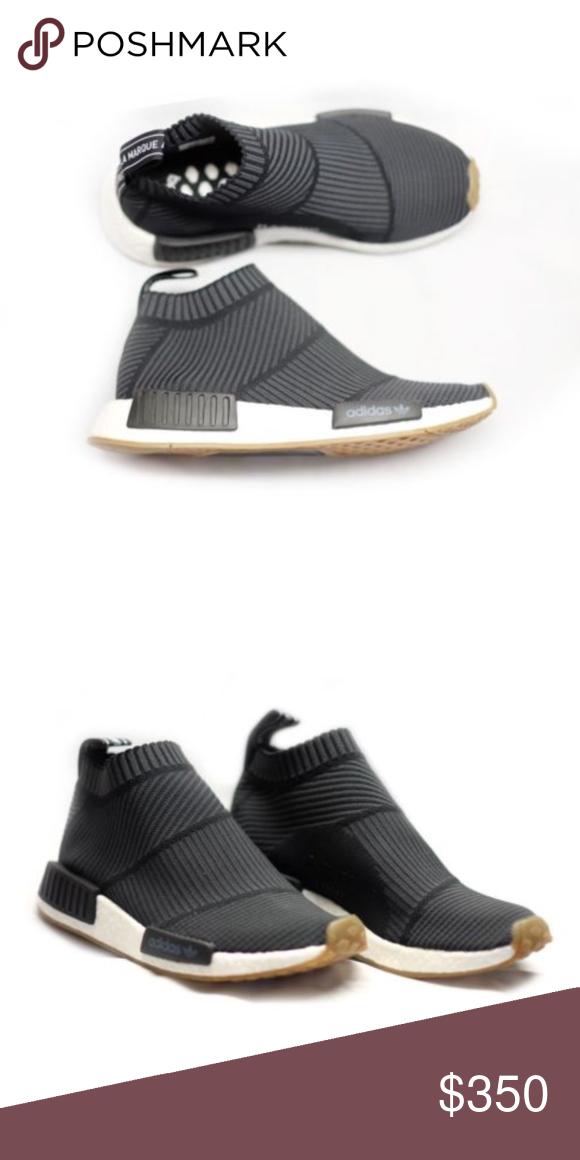 3f3f7d967 Adidas NMD CS1 PK Black Primeknit City Sock Gum New With Box Adidas NMD CS1  PK Black Primeknit City Sock Gum Bottom Size 6 Authentic 100% Authentic  adidas ...