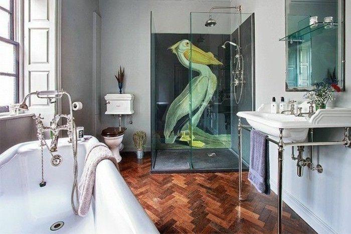 Bagno Parquet ~ Pareti bagno senza piastrelle pittura colore grigia chiara disegno