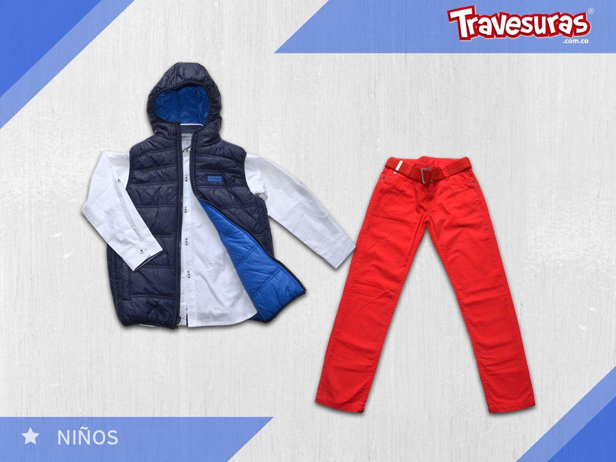 Un combinación con un aire muy moderno para que tu pequeño siempre este a la moda. http://travesuras.com.co/producto/conjunto-nino-5/