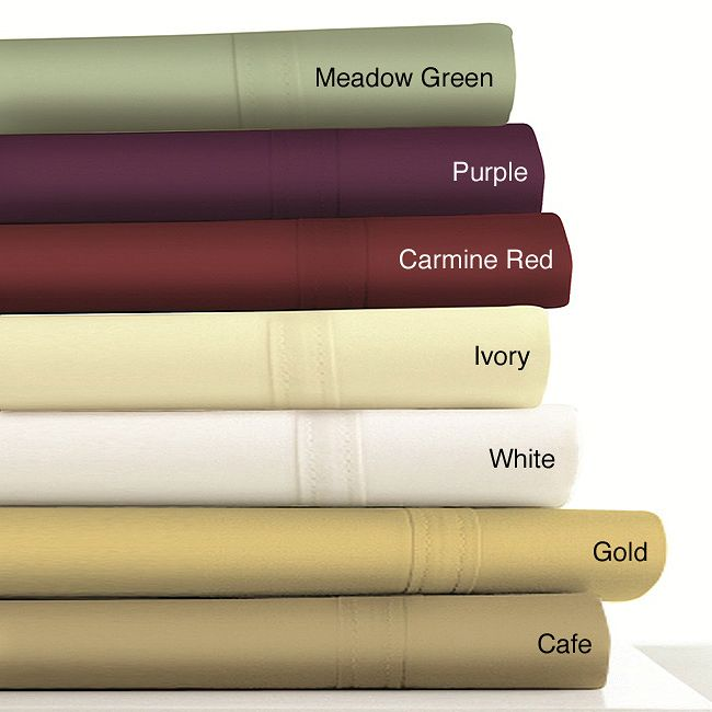 Woven in a luxurious 500-thread count to offer an indulgently soft and smooth feel, these sheets feature double-stitched band at the hem of the flat sheet. The fully elasticized fitted sheets fit mattresses up to 23 inches deep.