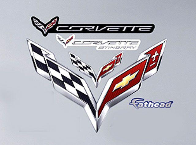 Corvette C7 Logo Fathead Small Decal Graphics Corvette C7 Corvette Corvette Stingray
