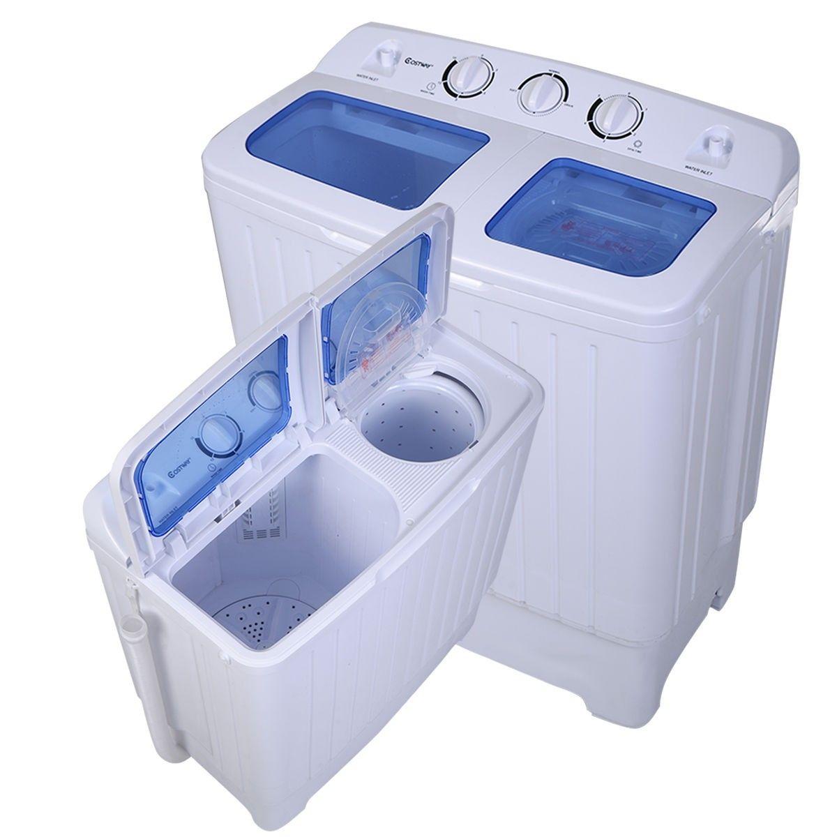 11 Lbs Compact Twin Tub Washing Machine Washer Spinner Mini