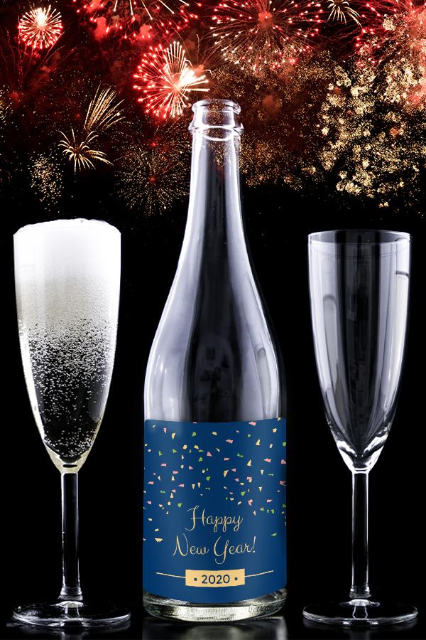 NYE Wine Bottle Label Party Favor | Wine bottle, Candle ...