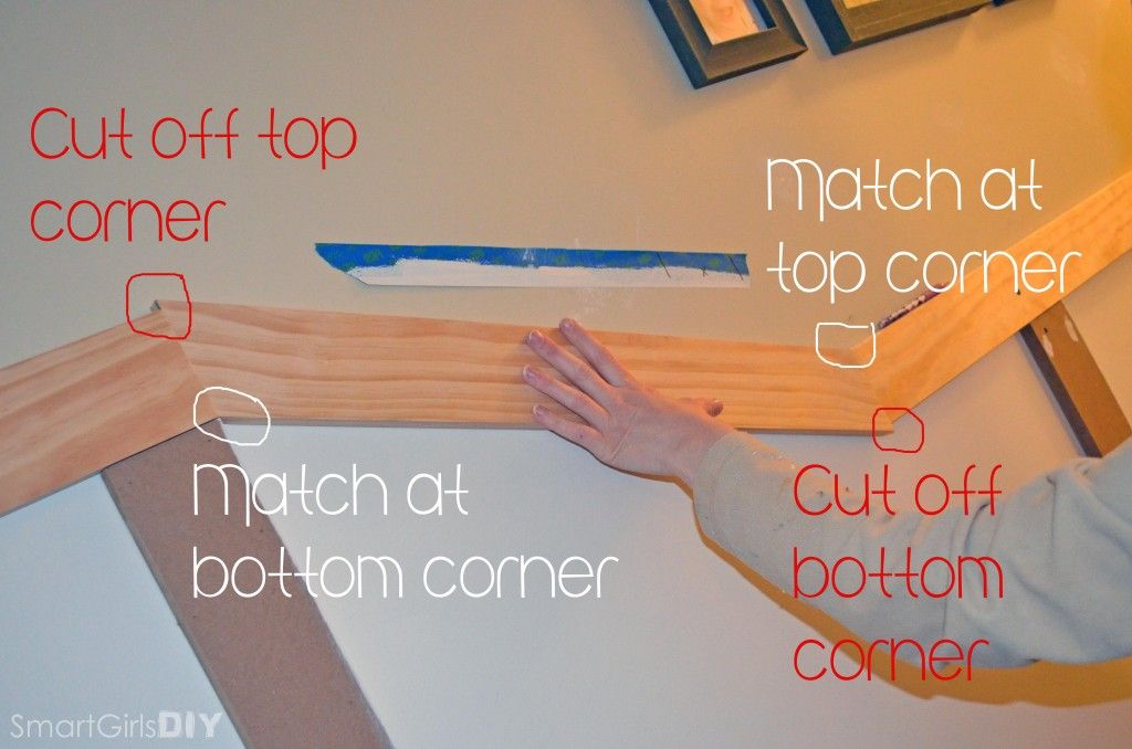 How To Cut Angles For Board And Batten On Stairs How To