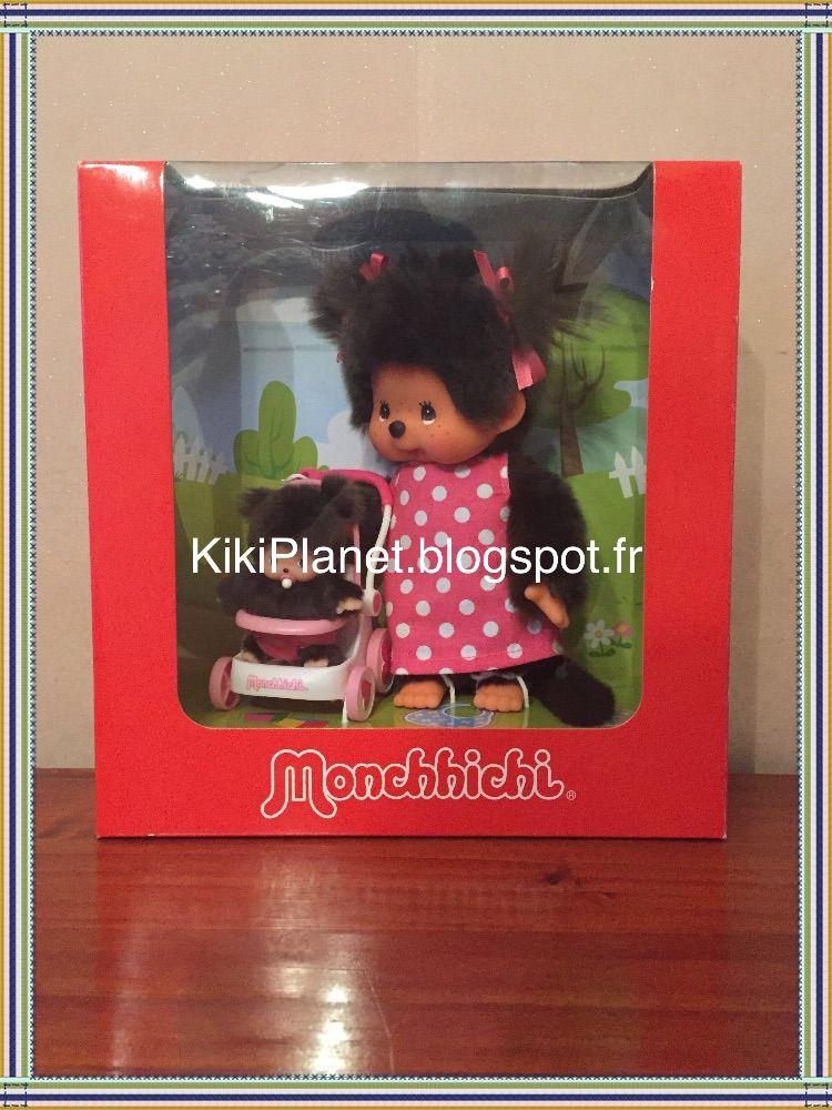 "La Hotte du Père Noël n°11: Le coffret Maman Monchhichi avec sa poussette ! ""Monchhichi Mama and Baby Stroller Set"" 236200 Le Pè..."