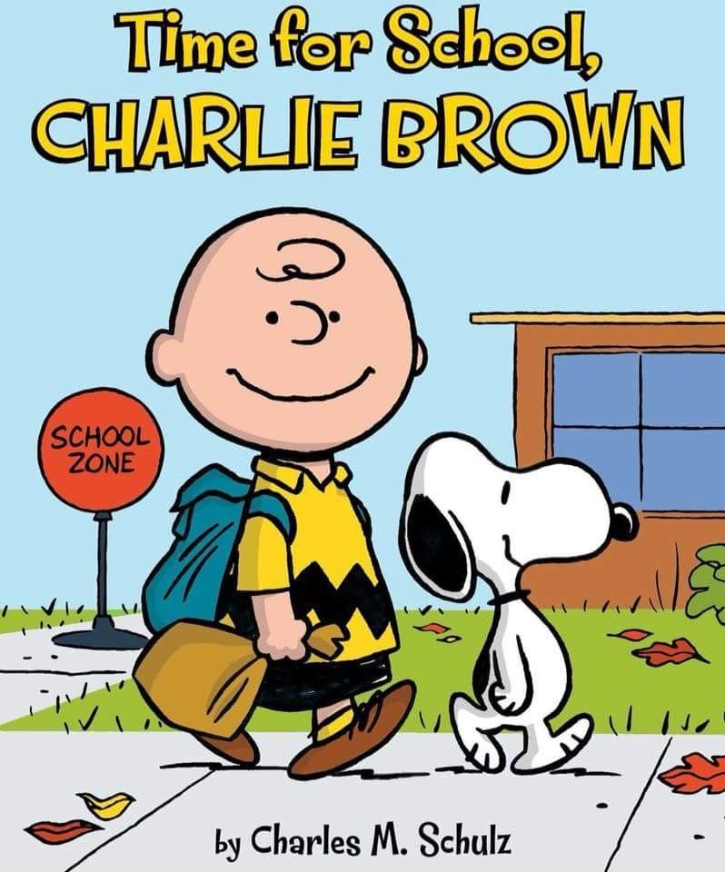 Snoopy, time for school Charlie brown and snoopy