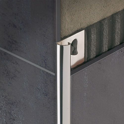 Stainless Steel Edge Trim For Tiles Round Corner Roundjolly Rj Profilitec Tile Trim Tiles Tile Edge