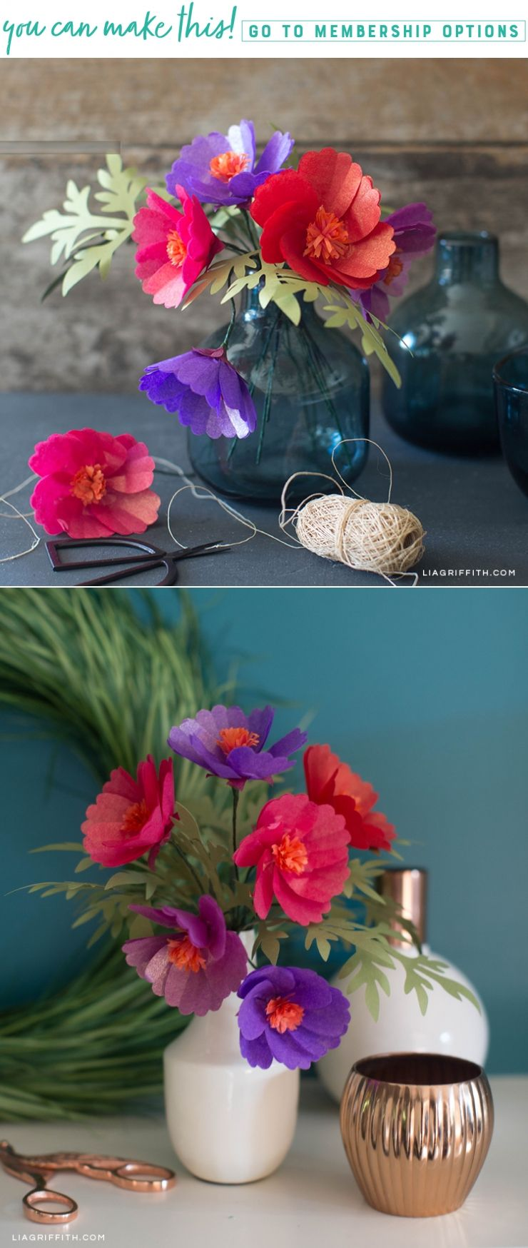 Making Tissue Paper Cosmos Flowers  Flowers  Pinterest  Cosmos