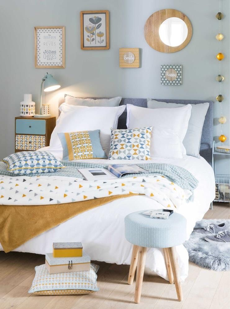 Lovely pastel blue tones for the rear guest bedroom. Made.com ...