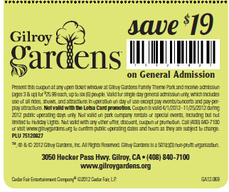 coupons gilroy gardens