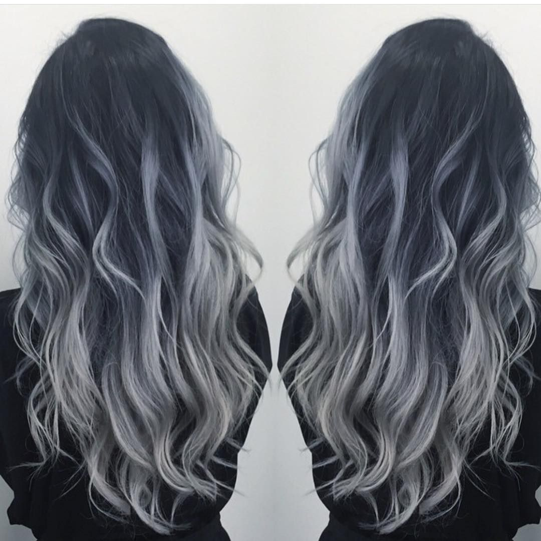 Hot On Beauty On Instagram Smoky Blue Silver By Dianashin Hotonbeauty Beautymagazine Featurepage Hot Beauty Hair Styles Grey Ombre Hair Trendy Hair Color