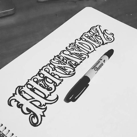 Hernandez Tattoo Lettering Style By Catrin Valadez Tattoo Lettering Tattoo Stencil Outline Tattoo Lettering Styles