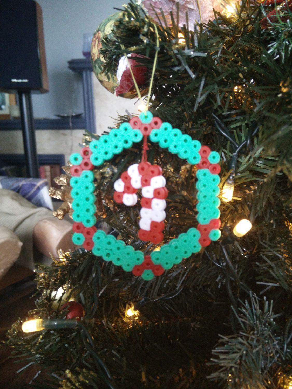 Christmas Tree Decoration Hama beads by CrackBrainCrafts