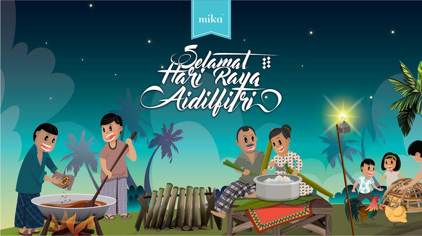 Season Hari Raya 2016Hampers & Packaging Design Kartun