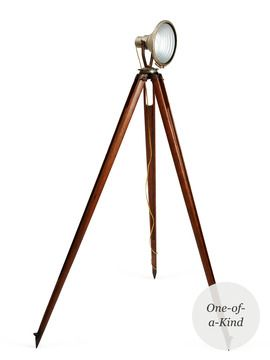 Gilt Groupe. Tiger lily tripod lamp