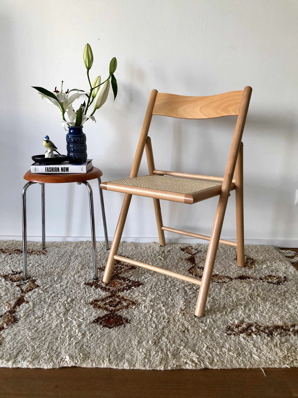 Mid Century Folding Chair Klappstuhl Holz Stuhle Und Holzstuhle