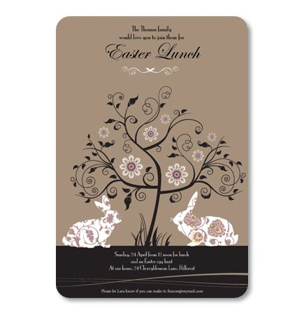 Classic Easter Silhouette Invitation - Holiday And Seasonal