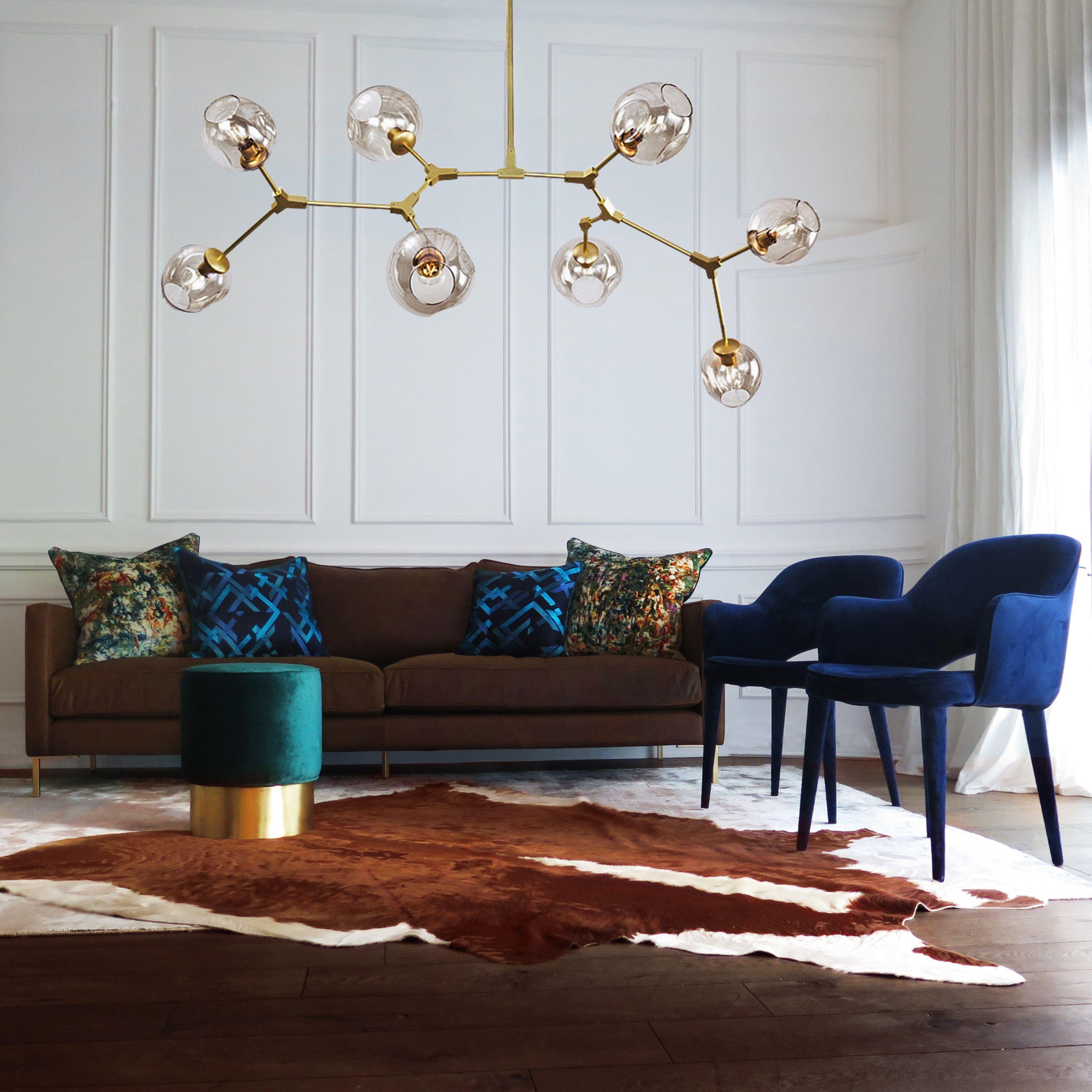 Fantastic Green Velvet Chair Brown Cowhide Velvet Green Stool Gold Inzonedesignstudio Interior Chair Design Inzonedesignstudiocom