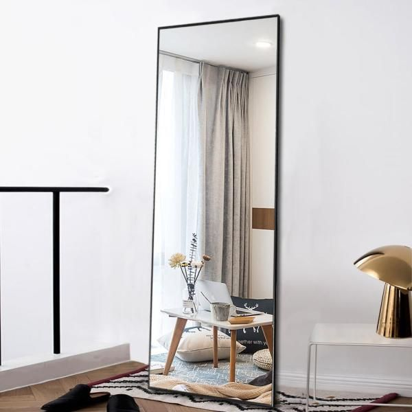 Neu Type Oversized Black Metal Beveled Glass Modern Classic Mirror 64 17 In H X 21 26 In W Jj00371aaf The Home Depot In 2021 Living Room Mirrors Mirror Dining Room Full Length Floor Mirror