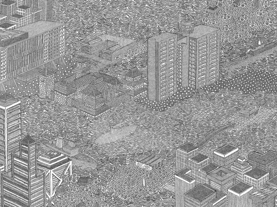 Des dessins minutieux en noir et blanc illustration - Coloriage minutieux ...
