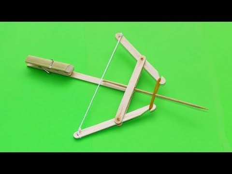 How To Make Powerful Crossbow From Popsicle Sticks Youtube Em