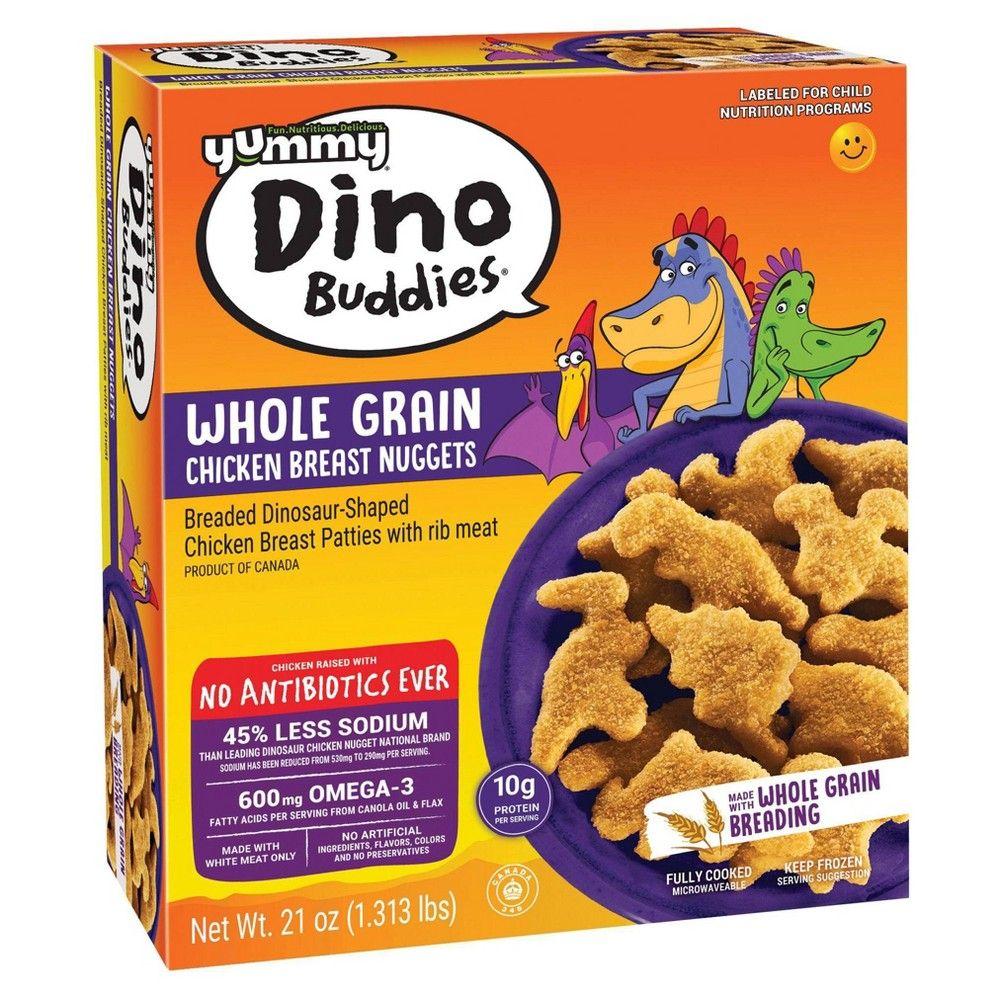 Yummy Whole Grain Dino Buddies Chicken Nuggets Frozen 21oz In 2021 Dinosaur Chicken Nuggets Chicken Nuggets Yummy